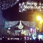 Grafton Street at night.