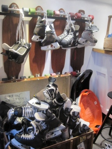 The hostel had skates that you could borrow!