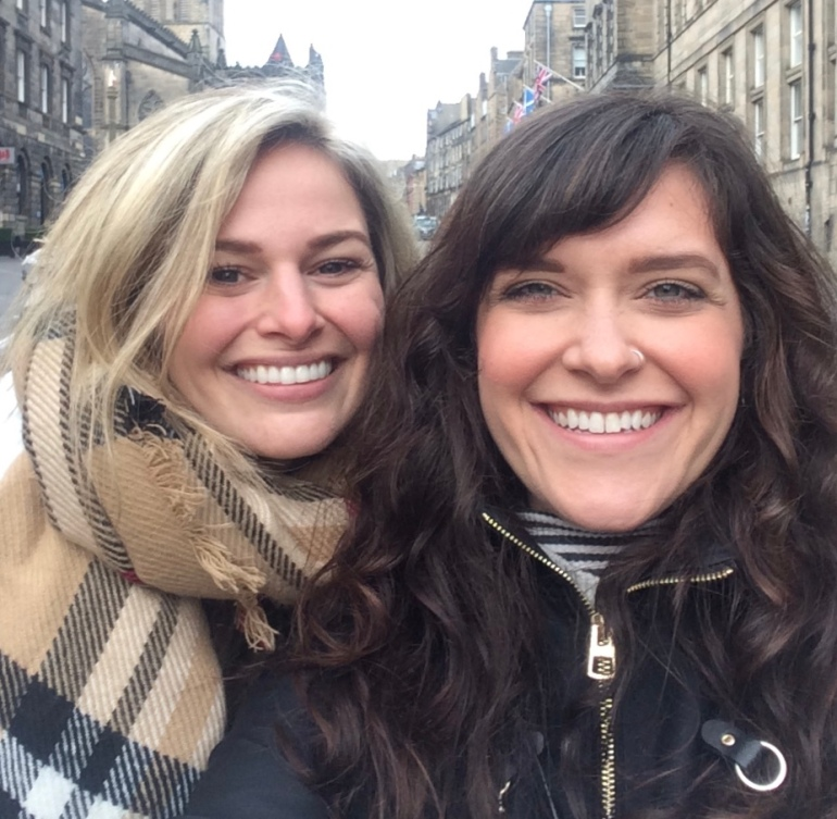 our time in edinburgh scotland, two females having a great time exploring edinburgh, scotland